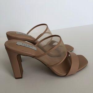 STEVEN New York Nude Square Toe Sandals - 8.5
